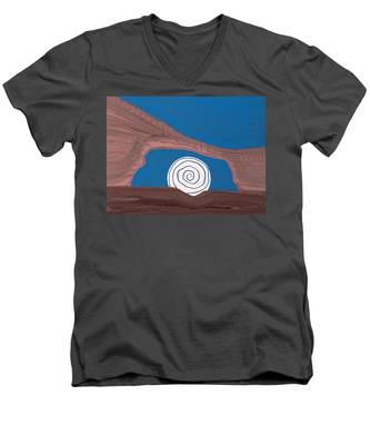 Moonscape Original Painting Men's V-Neck T-Shirt