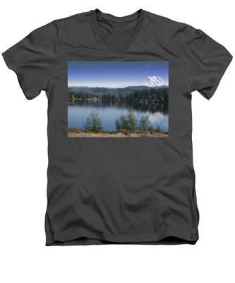 Mount Rainier In The Fall Men's V-Neck T-Shirt