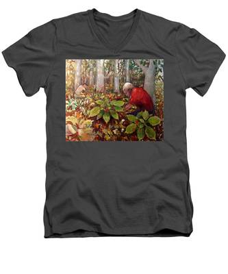Na025 Men's V-Neck T-Shirt