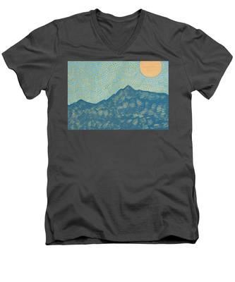 Picuris Mountains Original Painting Men's V-Neck T-Shirt