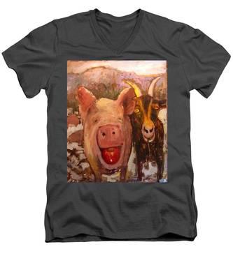 Pig And Goat Men's V-Neck T-Shirt