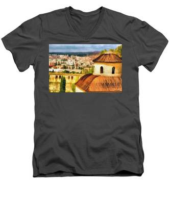 Pious Witness To The Passage Of Time Men's V-Neck T-Shirt