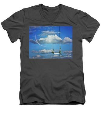 Playing In The Clouds Men's V-Neck T-Shirt
