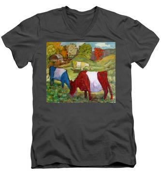 Primary Cows Men's V-Neck T-Shirt