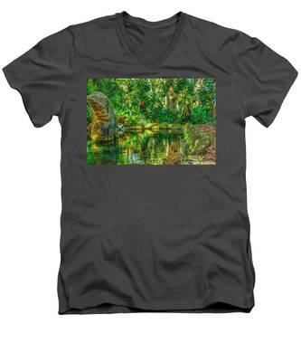 Reflecting On The Day Men's V-Neck T-Shirt