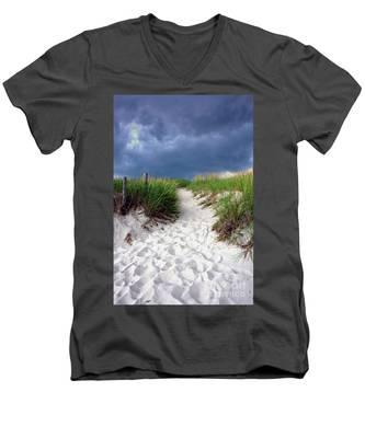 Sand Dune Under Storm Men's V-Neck T-Shirt