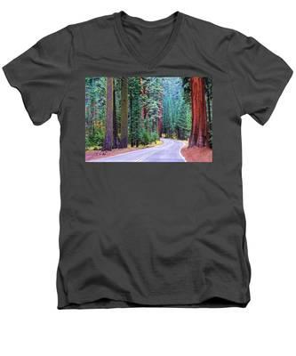 Sequoia Hwy Men's V-Neck T-Shirt