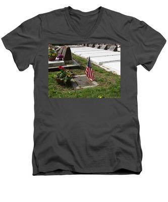 Soldiers Final Resting Place Men's V-Neck T-Shirt