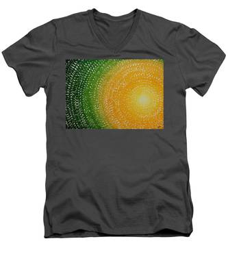 Spring Sun Original Painting Men's V-Neck T-Shirt