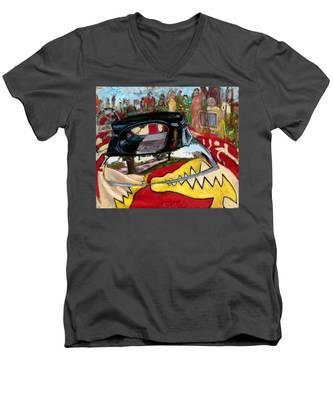 St001 Men's V-Neck T-Shirt