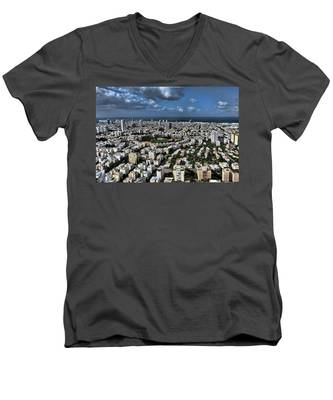 Tel Aviv Center Men's V-Neck T-Shirt