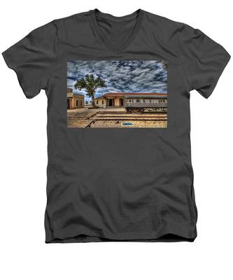 Tel Aviv Old Railway Station Men's V-Neck T-Shirt