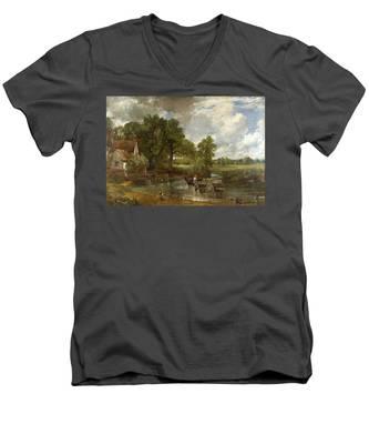 The Hay Wain Men's V-Neck T-Shirt