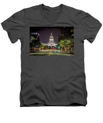 The Texas Capitol Building Men's V-Neck T-Shirt
