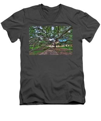 Under The Century Tree Men's V-Neck T-Shirt
