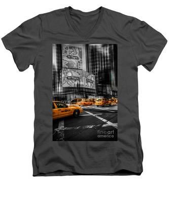 Van Wagner - Colorkey Men's V-Neck T-Shirt