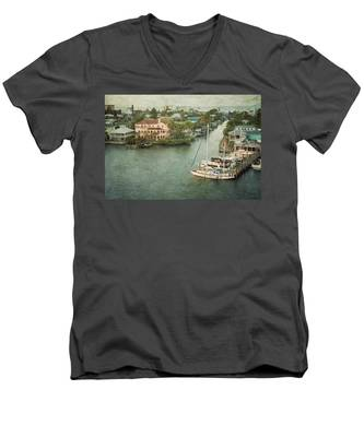 View At Fort Myers Beach - Florida Men's V-Neck T-Shirt