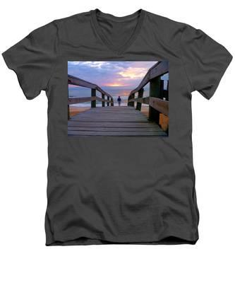 Walking Into Paradise Men's V-Neck T-Shirt