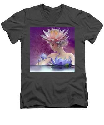 Water Of Life - In Violet Men's V-Neck T-Shirt