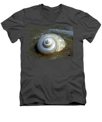 Whispering Tides Men's V-Neck T-Shirt