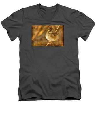 White Throated Sparrow Men's V-Neck T-Shirt