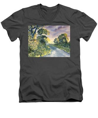 Wild Roses On The Wolds Men's V-Neck T-Shirt
