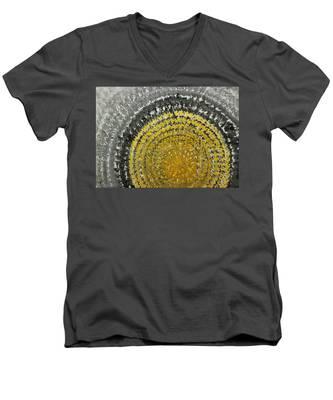 Winter Sun Original Painting Men's V-Neck T-Shirt
