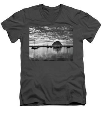 Morro Bay On Fire Men's V-Neck T-Shirt