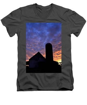 Barnyard Sunrise I Men's V-Neck T-Shirt