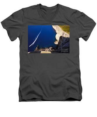 Boat In The Sea Men's V-Neck T-Shirt