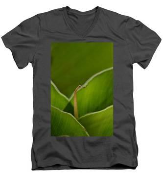 Curled Men's V-Neck T-Shirt
