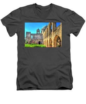 Mission Courtyard Men's V-Neck T-Shirt