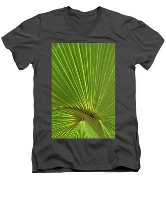 Palm Leaf Men's V-Neck T-Shirt