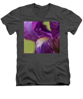 Purple Iris 1 Men's V-Neck T-Shirt