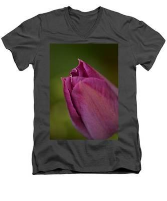Purple Tulip Men's V-Neck T-Shirt