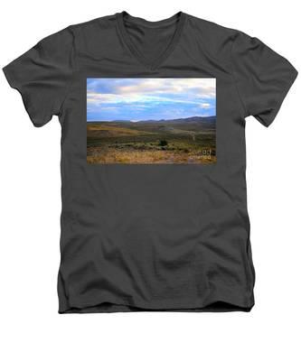 Stormy Wyoming Sunrise I Men's V-Neck T-Shirt