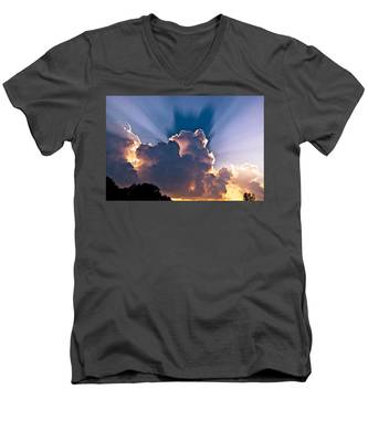 Sun Rays And Clouds Men's V-Neck T-Shirt