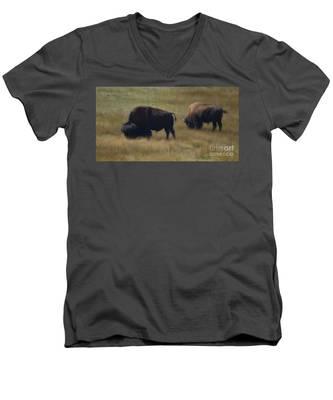 Wyoming Buffalo Men's V-Neck T-Shirt