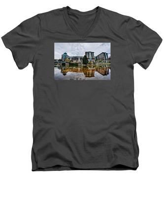 Downtown Of Greenville South Carolina Around Falls Park Men's V-Neck T-Shirt