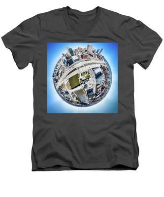 Milwaukee Riverwalk Men's V-Neck T-Shirt