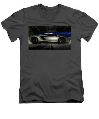 2012 Mclaren Mp4-12c Men's V-Neck T-Shirt