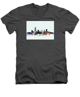 Oklahoma City Skyline Men's V-Neck T-Shirt