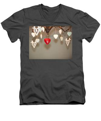 A Heart Among Hearts I Men's V-Neck T-Shirt