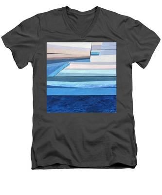 Abstract Swimming Pool Men's V-Neck T-Shirt