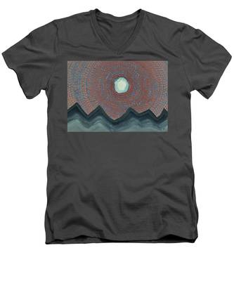 Alpine Resonance Original Painting Men's V-Neck T-Shirt