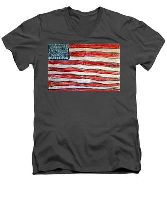 American Social Men's V-Neck T-Shirt