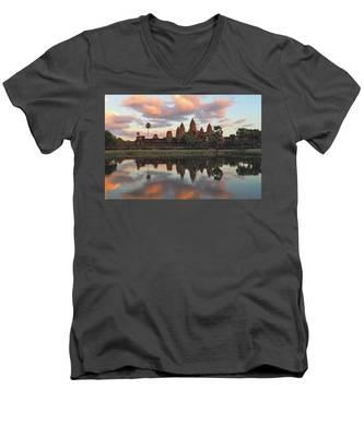 Angkor Wat V-Neck T-Shirts