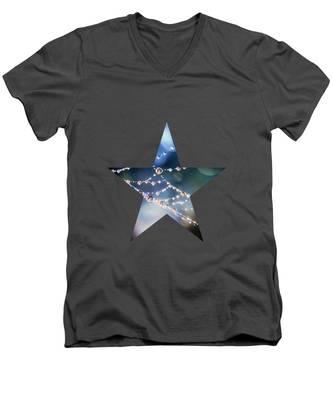 City Lights Men's V-Neck T-Shirt