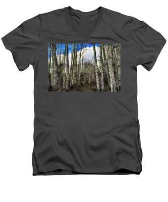 Aspen Standing Men's V-Neck T-Shirt