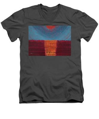 At World's Beginning Original Painting Men's V-Neck T-Shirt